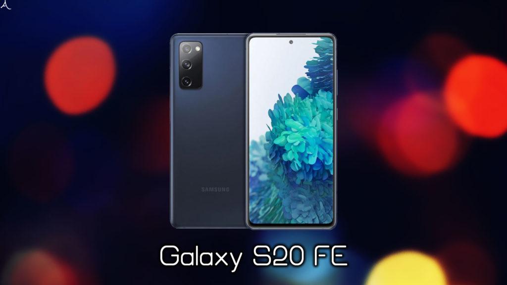 「Galaxy S20 FE」のスペック・特徴まとめ:価格や発売日は?