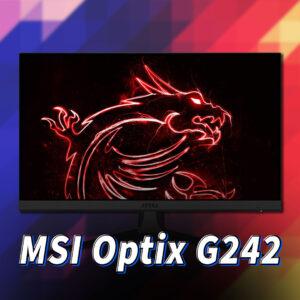 「MSI Optix G242」ってモニターアーム使えるの?VESAサイズやおすすめアームはどれ?