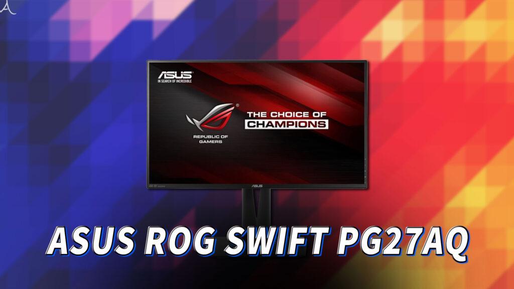 「ASUS ROG SWIFT PG27AQ」はスピーカーに対応してる?PCスピーカーのおすすめはどれ?