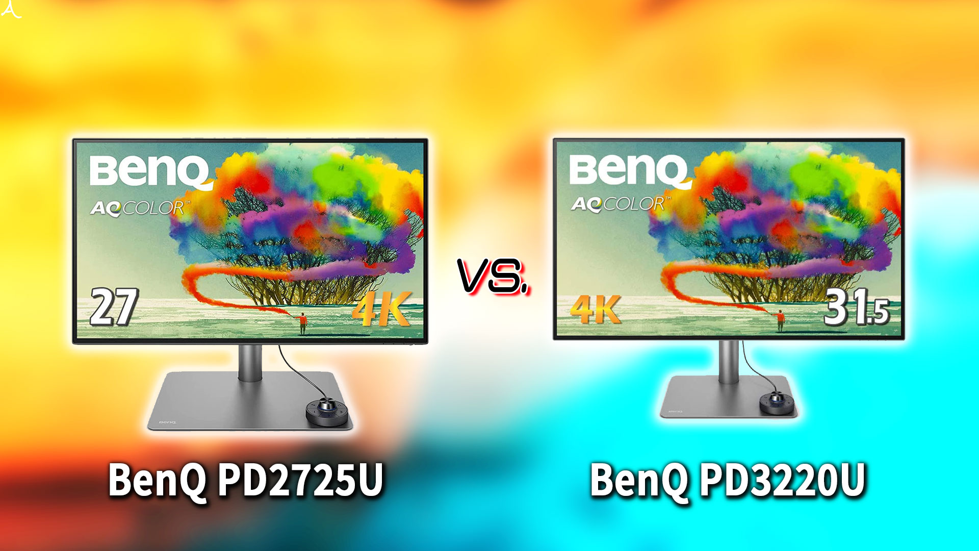 「BenQ PD2725U」と「PD3220U」の違いを比較:どっちを買う?