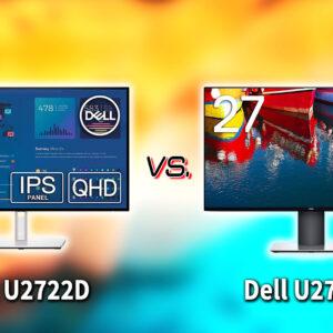 「Dell U2722D」と「U2719D」の違いを比較:どっちを買う?