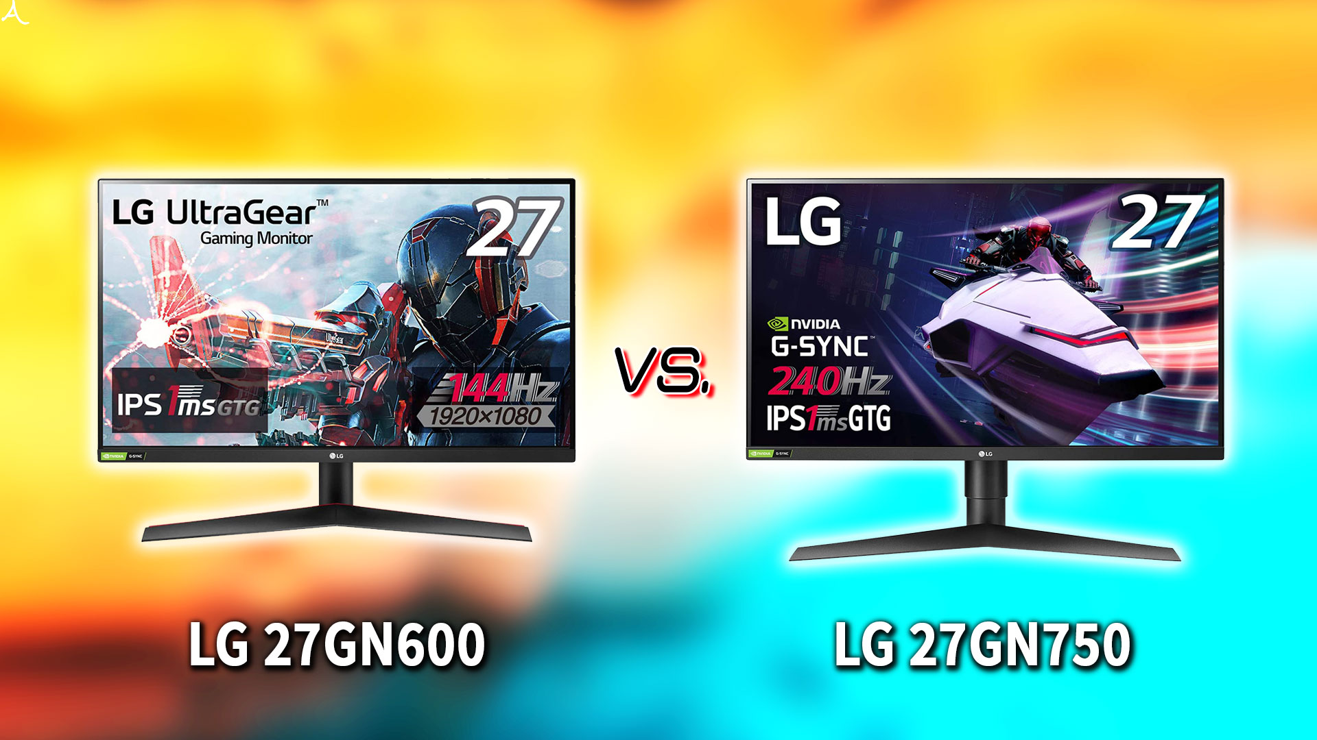 「LG 27GN600」と「27GN750」の違いを比較:どっちを買う?
